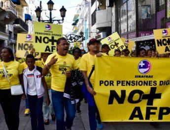 SINATRAE califico a las AFP enemigas de los trabajadores y se roban el futuro de los hombres y mujeres.