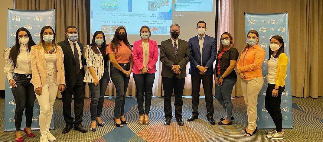 Loteka imparte Seminario sobre prevención de Lavado de Activos.